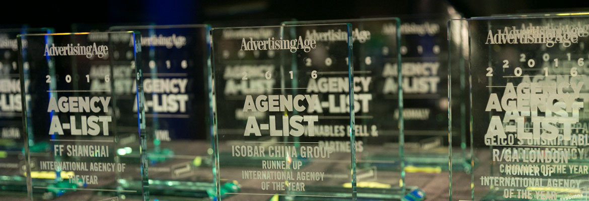 2016 Ad Age A-List Awards ready to be given out