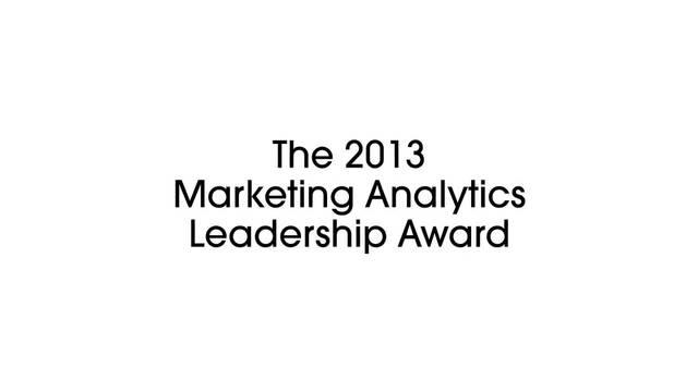 Wistia video thumbnail - Video: 2013 ANA Marketing Analytics Leadership Award Overview | Neustar